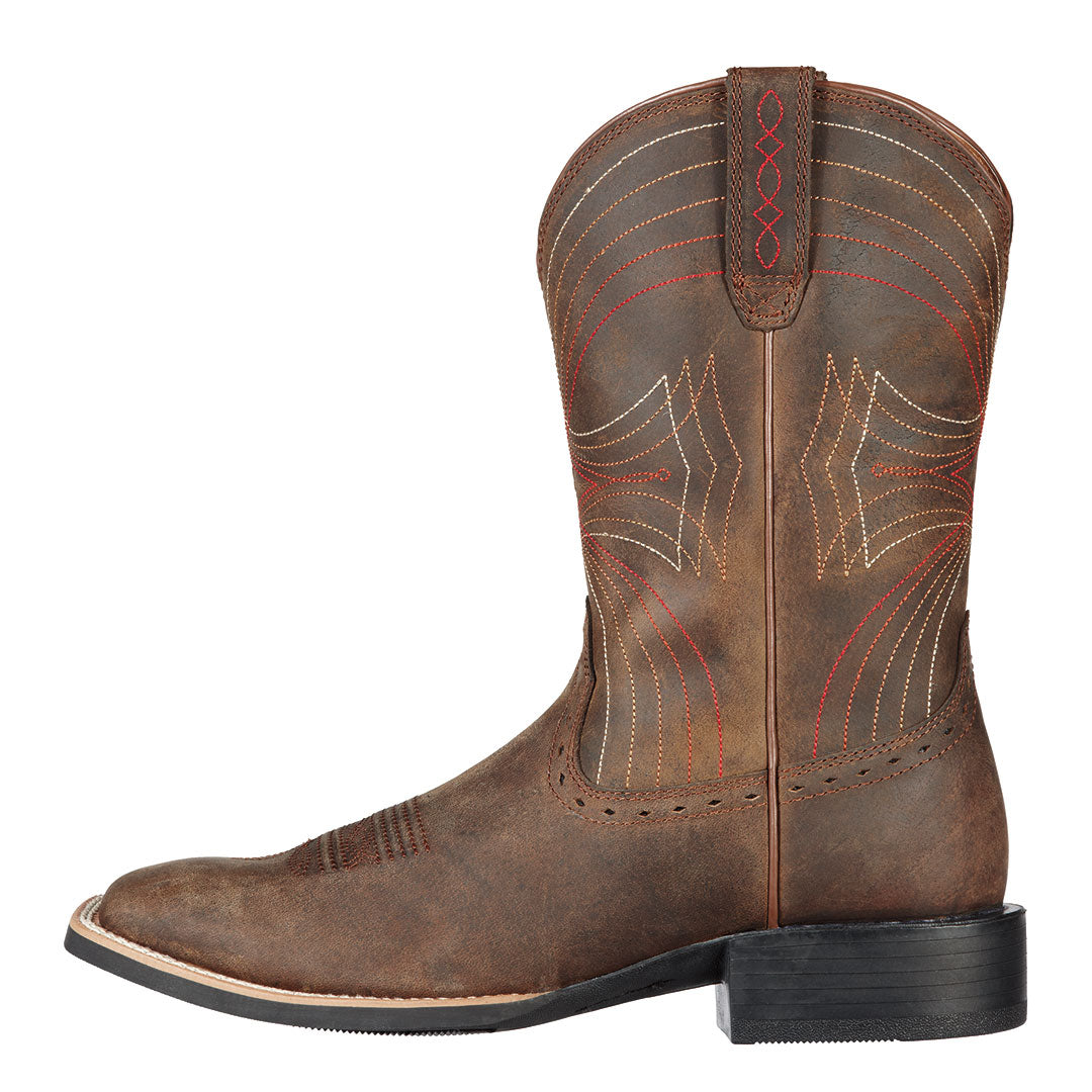 Ariat Sport Distressed Brown Cowboy Boots