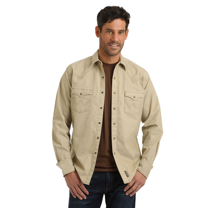 Wrangler® Retro® Premium Retro Tan Mens Shirt