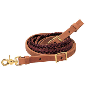 Weaver Harness & Latigo Leather 5-Plait Roper Reins