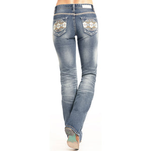 Rock & Roll Denim Mid Rise Boot cut Jeans