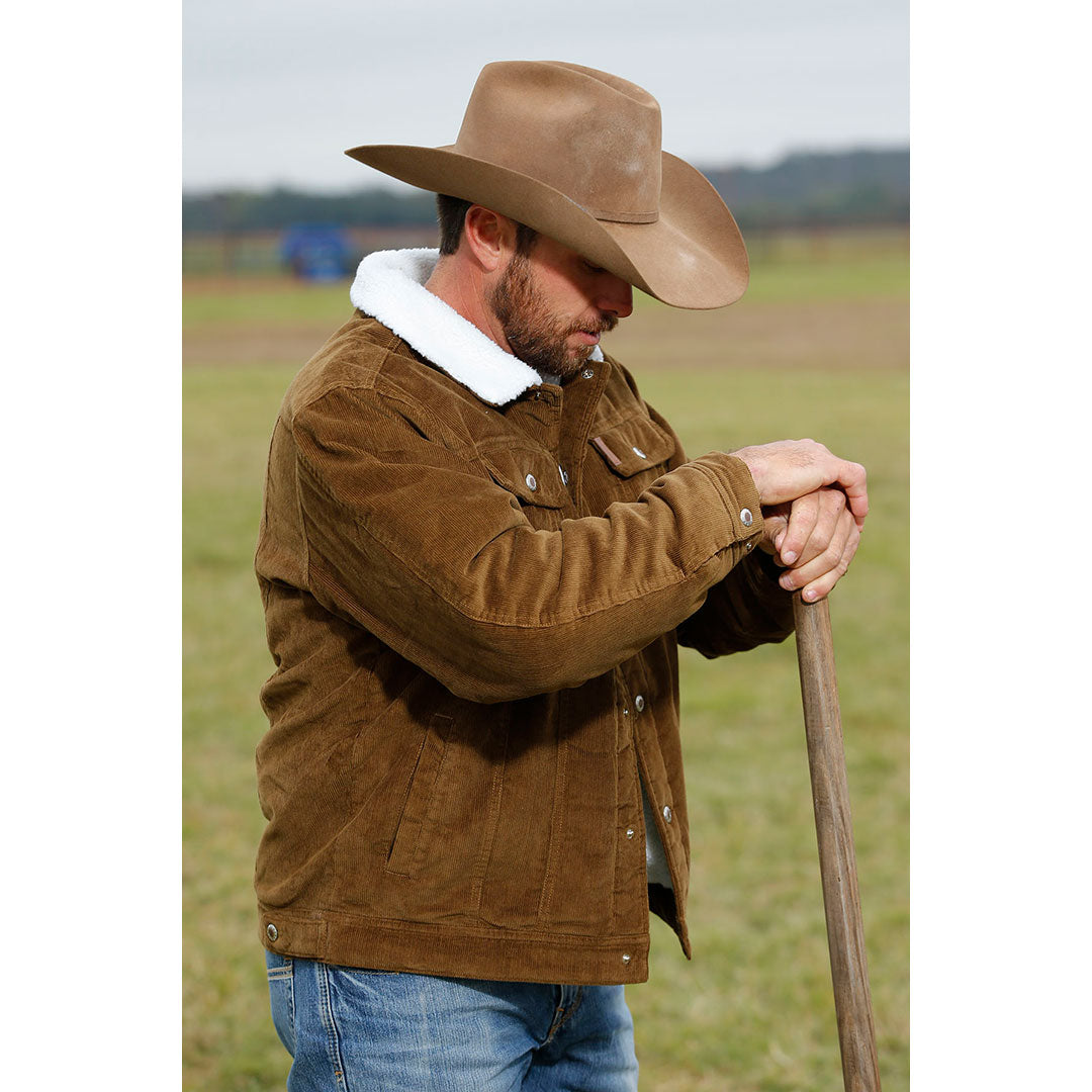 Cinch Corduroy Trucker Mens Brown Jacket