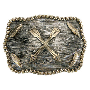 AndWest Iconic Crossed Arrows & Feather Buckle