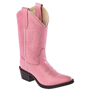Old West Kids Pink Western Boots