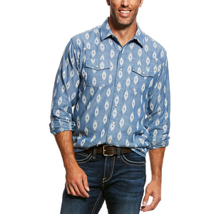 Ariat Jared Retro Blue Aztec Snap Shirt