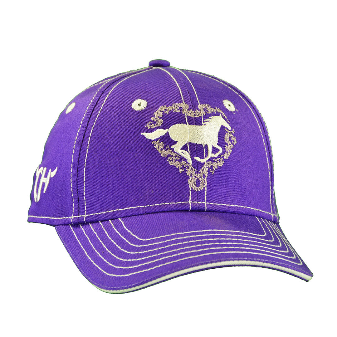 Cowgirl Hardware Purple Horse Cap