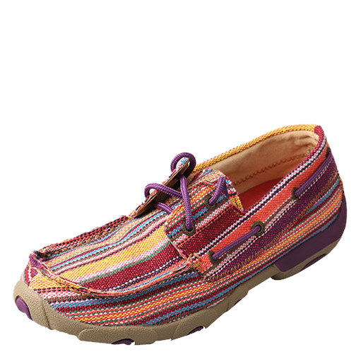 Twisted X Purple Multi Driving Moccasins