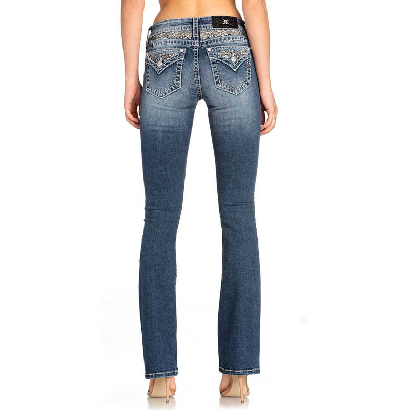 Miss Me Women's Detailed Feeling Bootcut Jeans