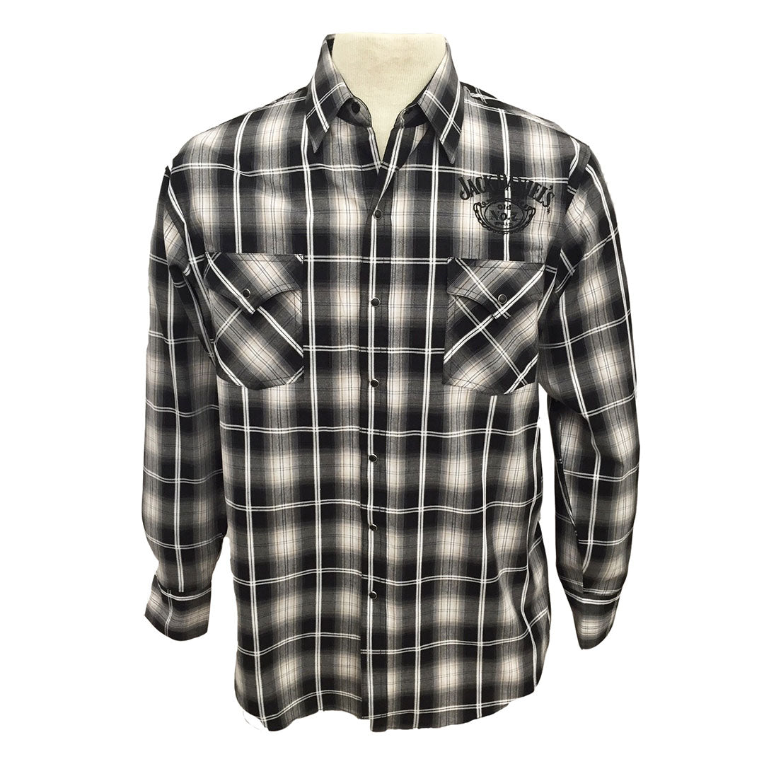 Jack Daniel's Black & White Plaid Shirt