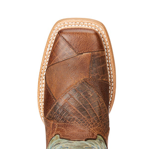 Ariat Rosalee Patchwork Marbled Cowgirl Boots