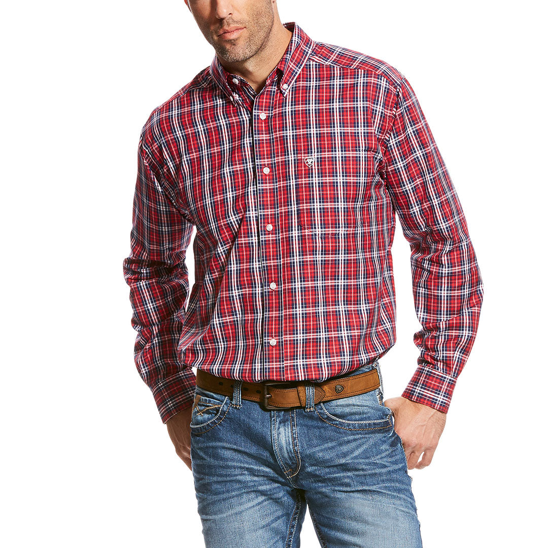 Ariat Safrin Red & White Plaid Shirt