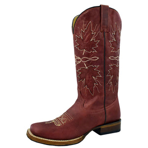 Roper Maple Leaf Red Cowgirl Boots