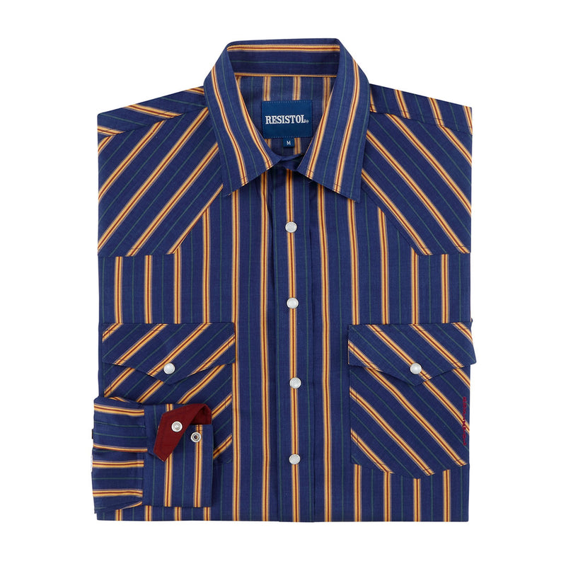 Resistol Brush Snap Stripe Pattern Boys Shirt