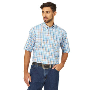 Wrangler Men's George Strait Plaid Short Sleeve Shirt