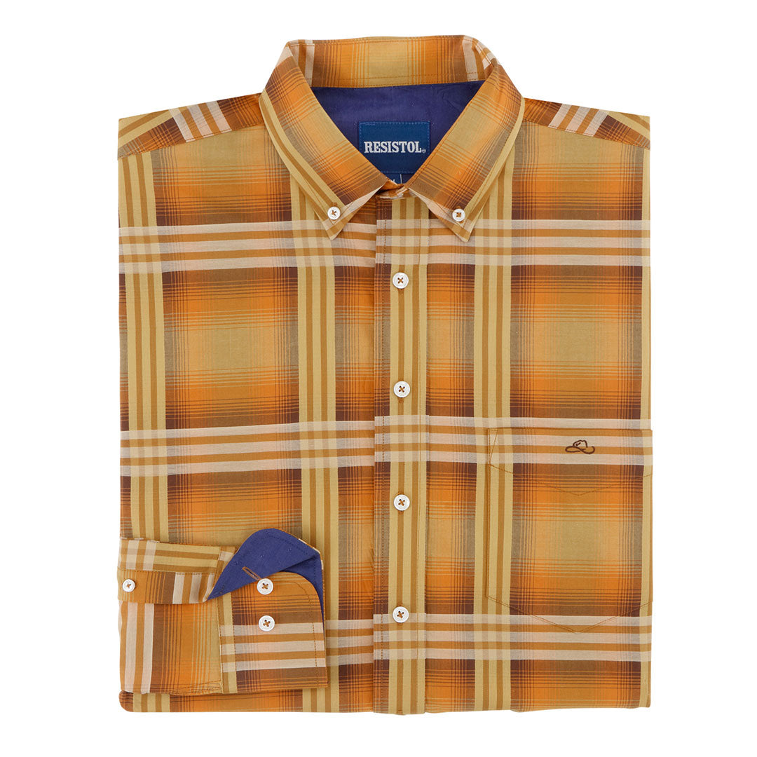 Resistol Sand Spring Button Plaid Shirt