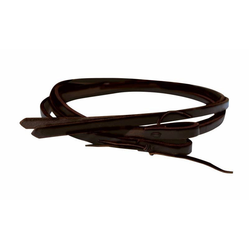 "Ranchhand 5/8"" Heavy Oil Harness Leather Split Reins"