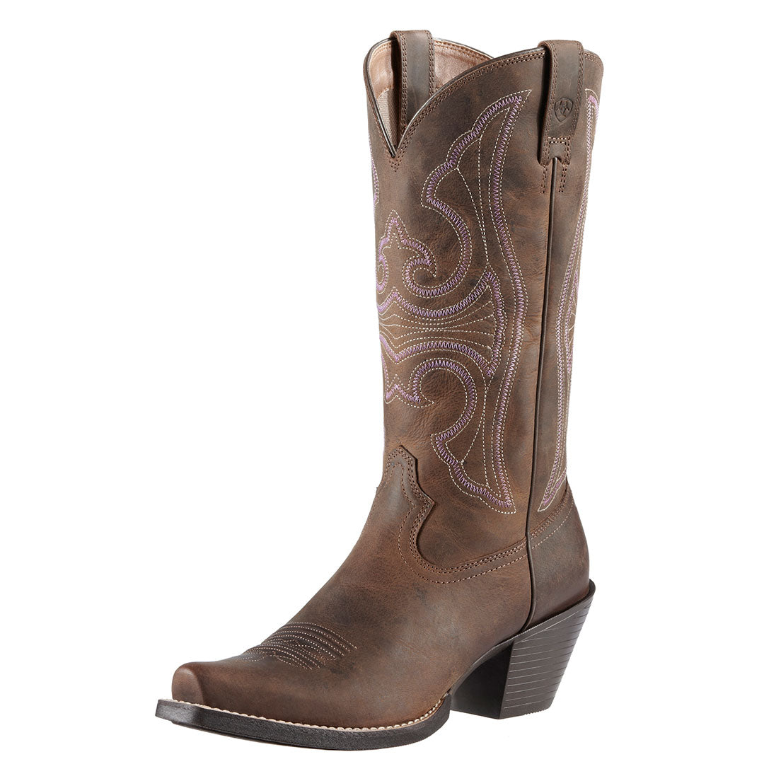 Ariat Round Up Distressed Brown Western Boot