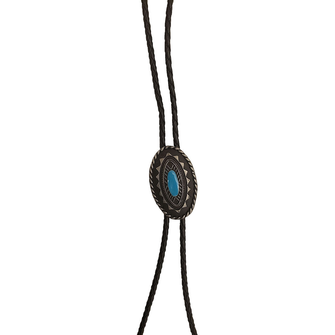Austin Accent Oval Turquoise Bolo