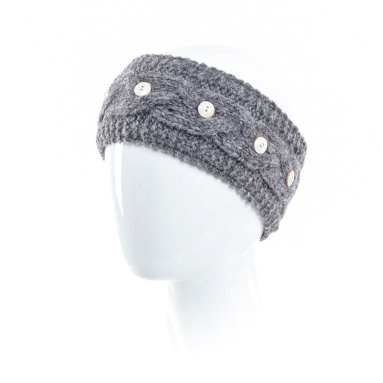 Laundromat Haven Grey Cable Knit Womens Headband