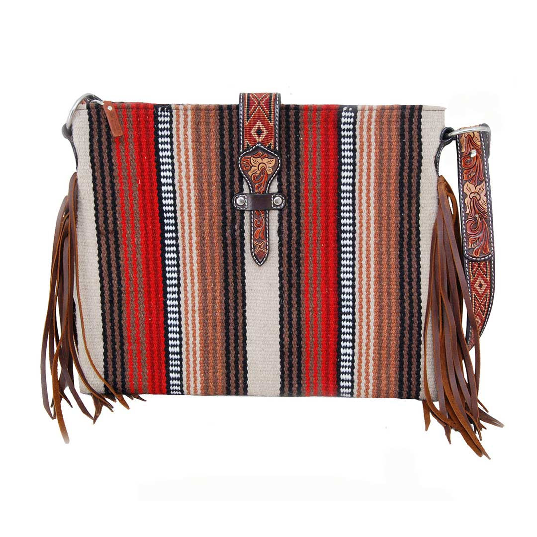 Twisted X Women's Woven Striped Crossbody Tote