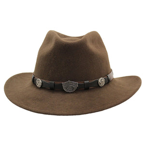 Jack Daniel's Crushable Concho Band Brown Wool Hat