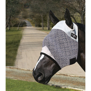 Professional's Choice Grey & Black Fly Mask