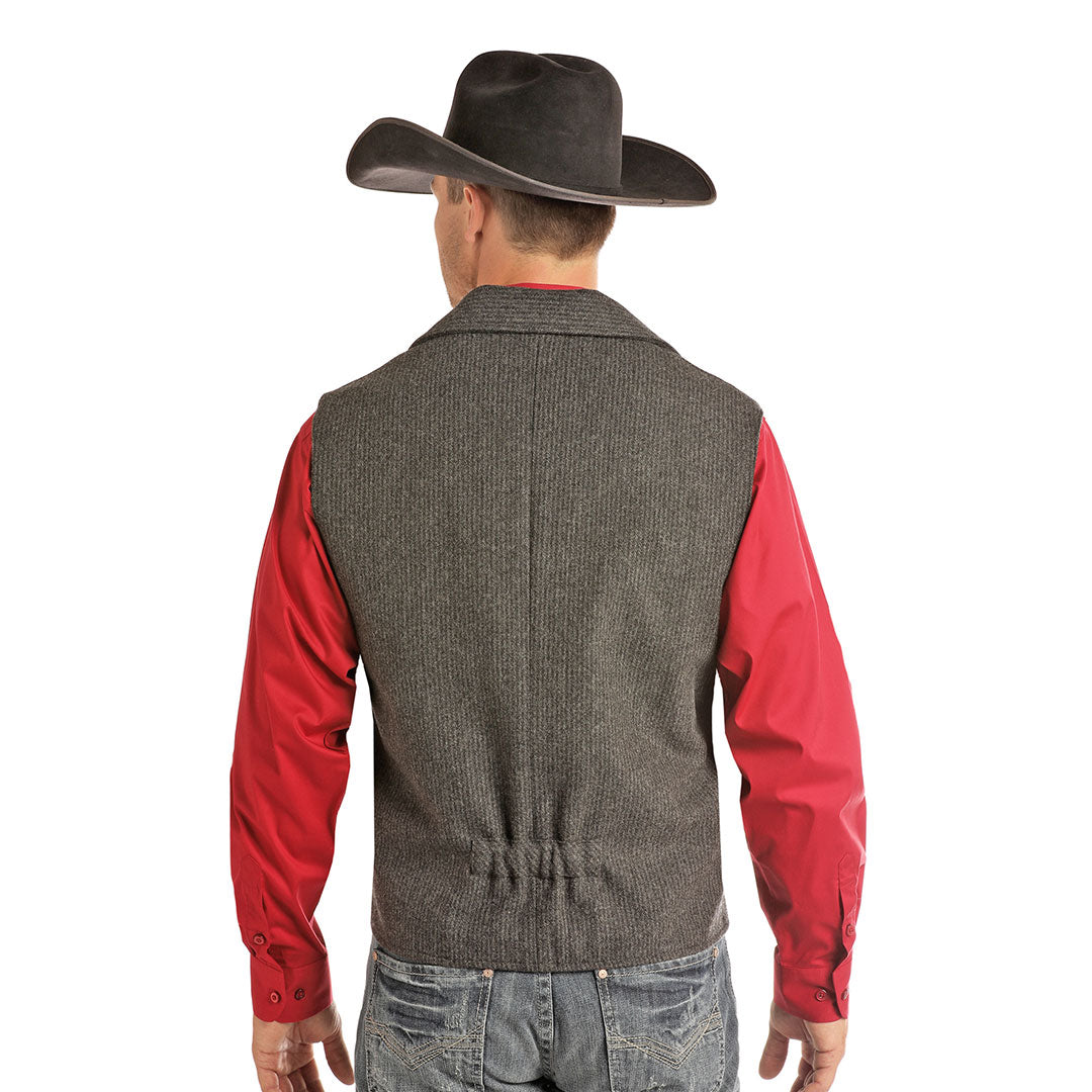 Powder River Outfitters Heather Striped Mens Grey Vest