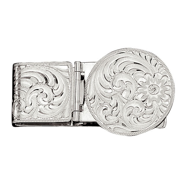 Montana Silversmiths Silver Engraved Hinged Money Clip