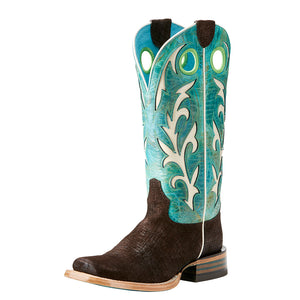 Ariat Chute Out Turquoise Cowgirl Boots