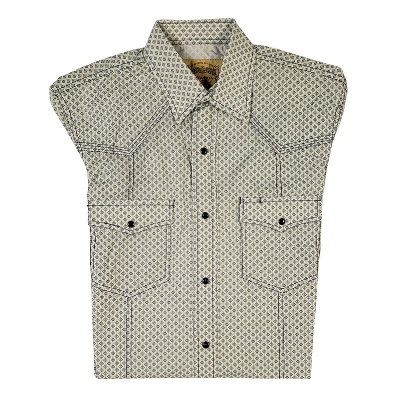 Cowboy Collection Diamond Print Navy & Green Mens Shirt