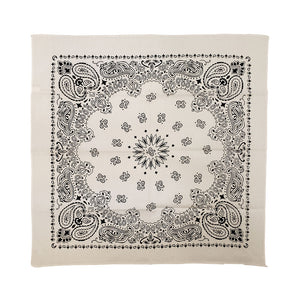 "Major Imports 22"" Black & White Paisley Bandana"