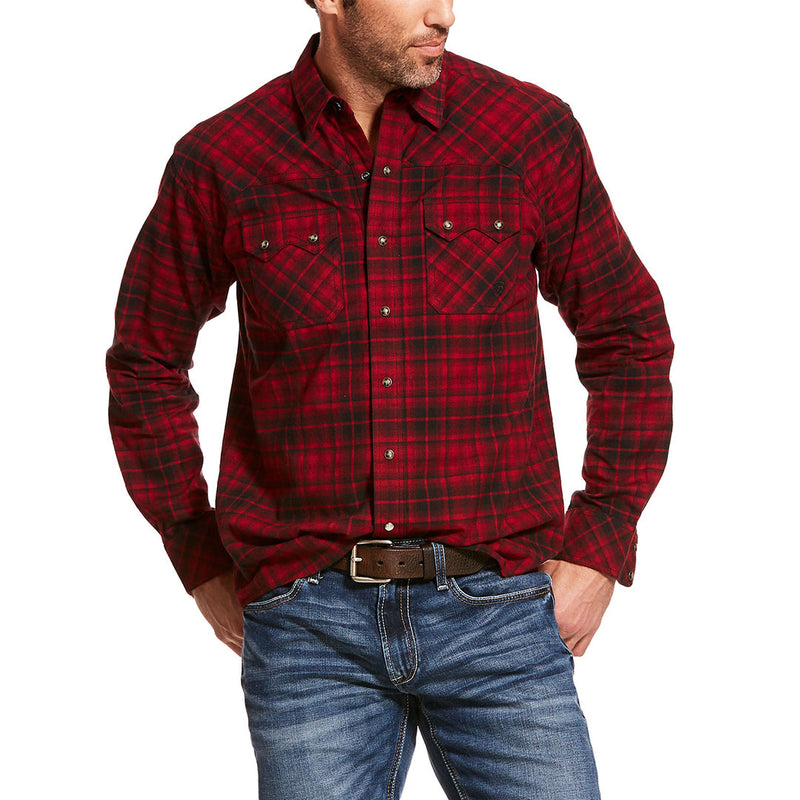 Ariat Forrest Ancho Chile Plaid Mens Shirt