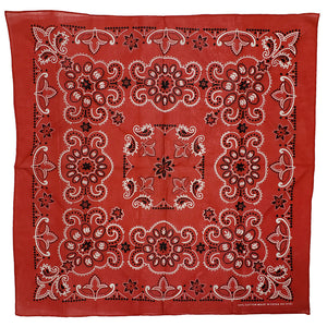 Major Imports Red & White Paisley Bandana