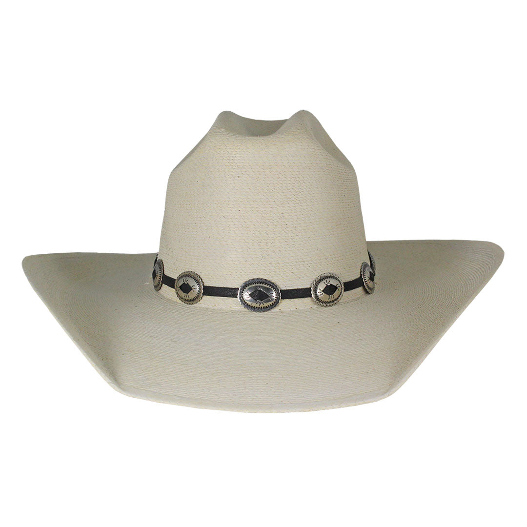 Austin Accent Black & Silver Small Concho Hat Band