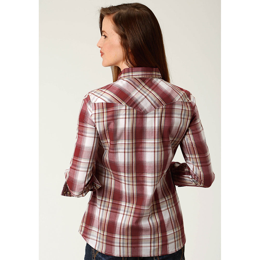 Roper Red & White Plaid Shirt