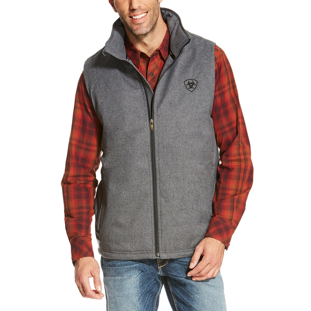 Ariat Team Logo Insulated Charcoal Heather Vest