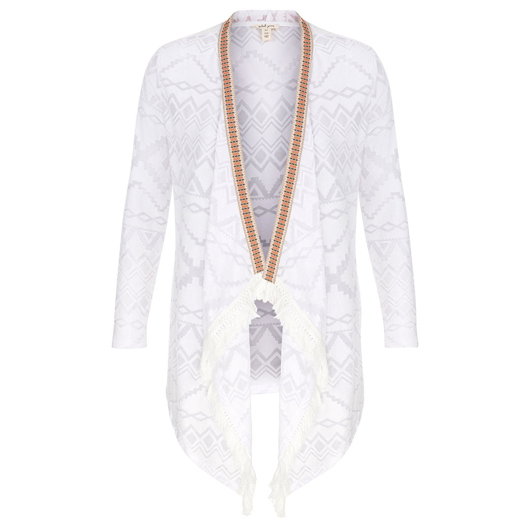 Tribal White Cardigan