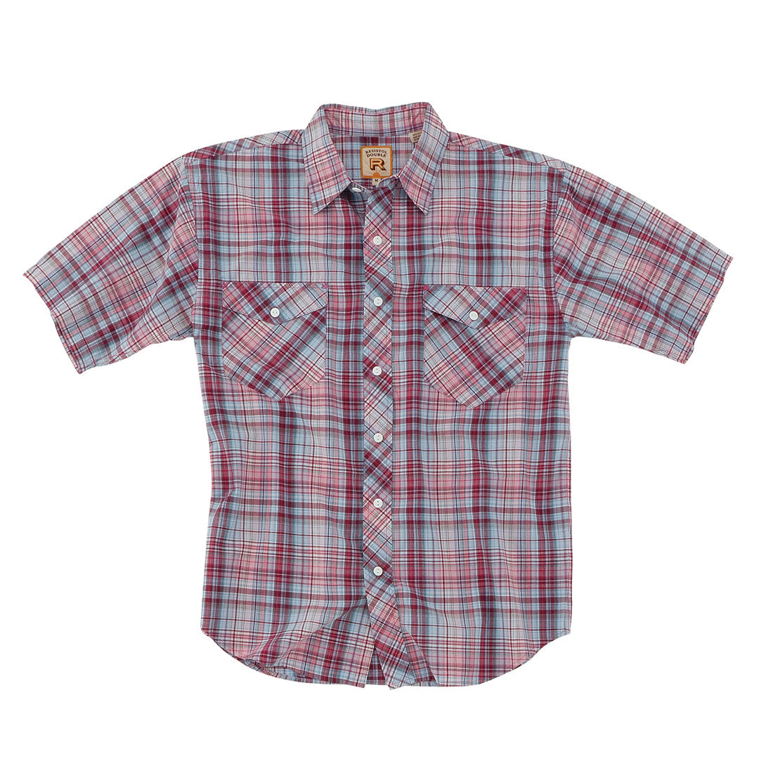Resistol Redwood Red & Pink Plaid Shirt