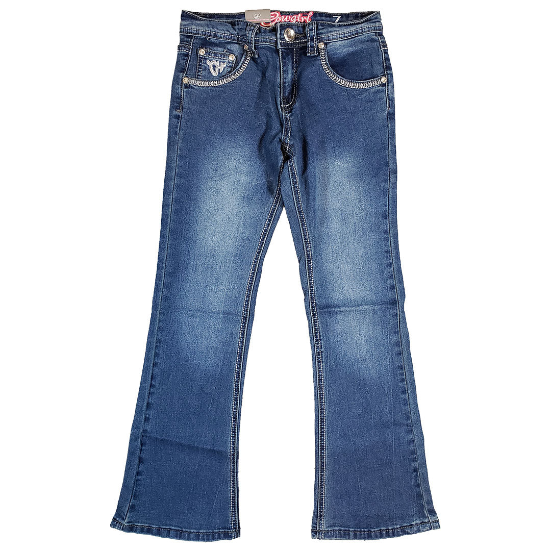 Rodeo Girl Faux Flap Jeans
