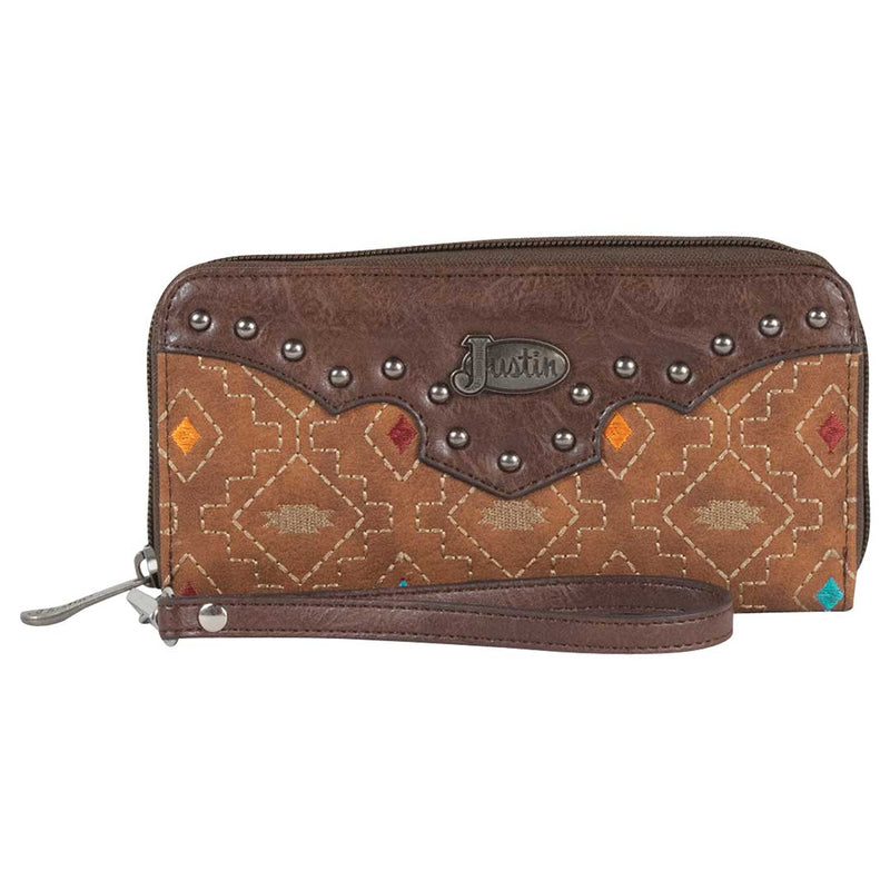 Justin Women's Diamond Embroidered Wallet