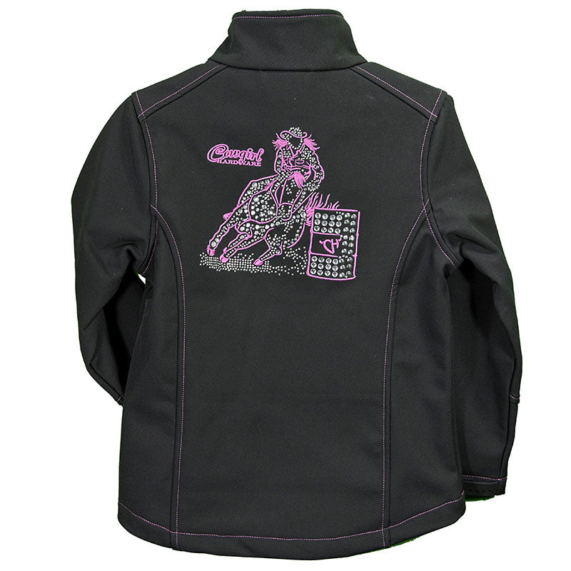 Cowgirl Hardware Barrel Racer Girls Black Jacket