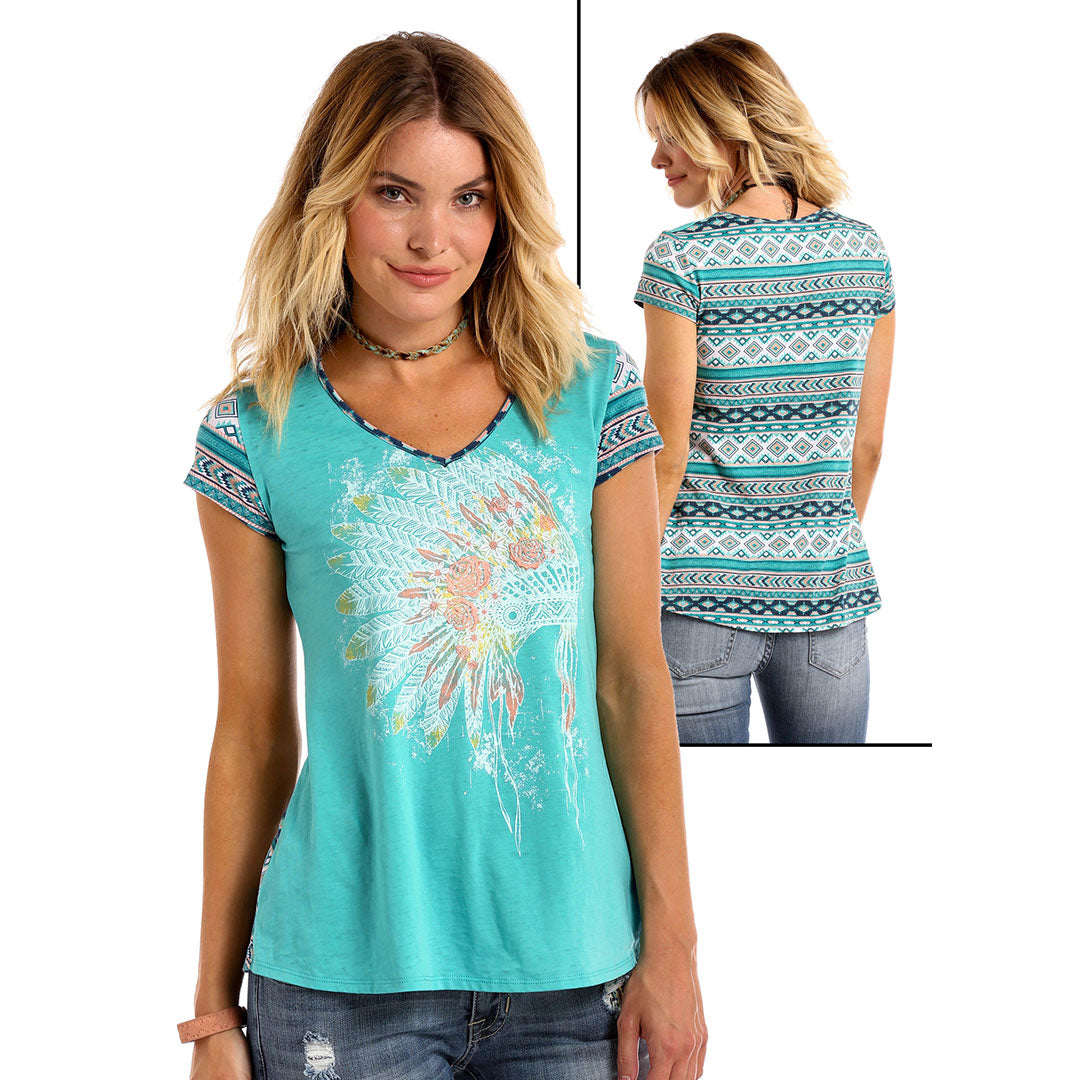 Panhandle White Label Aztec Back Top