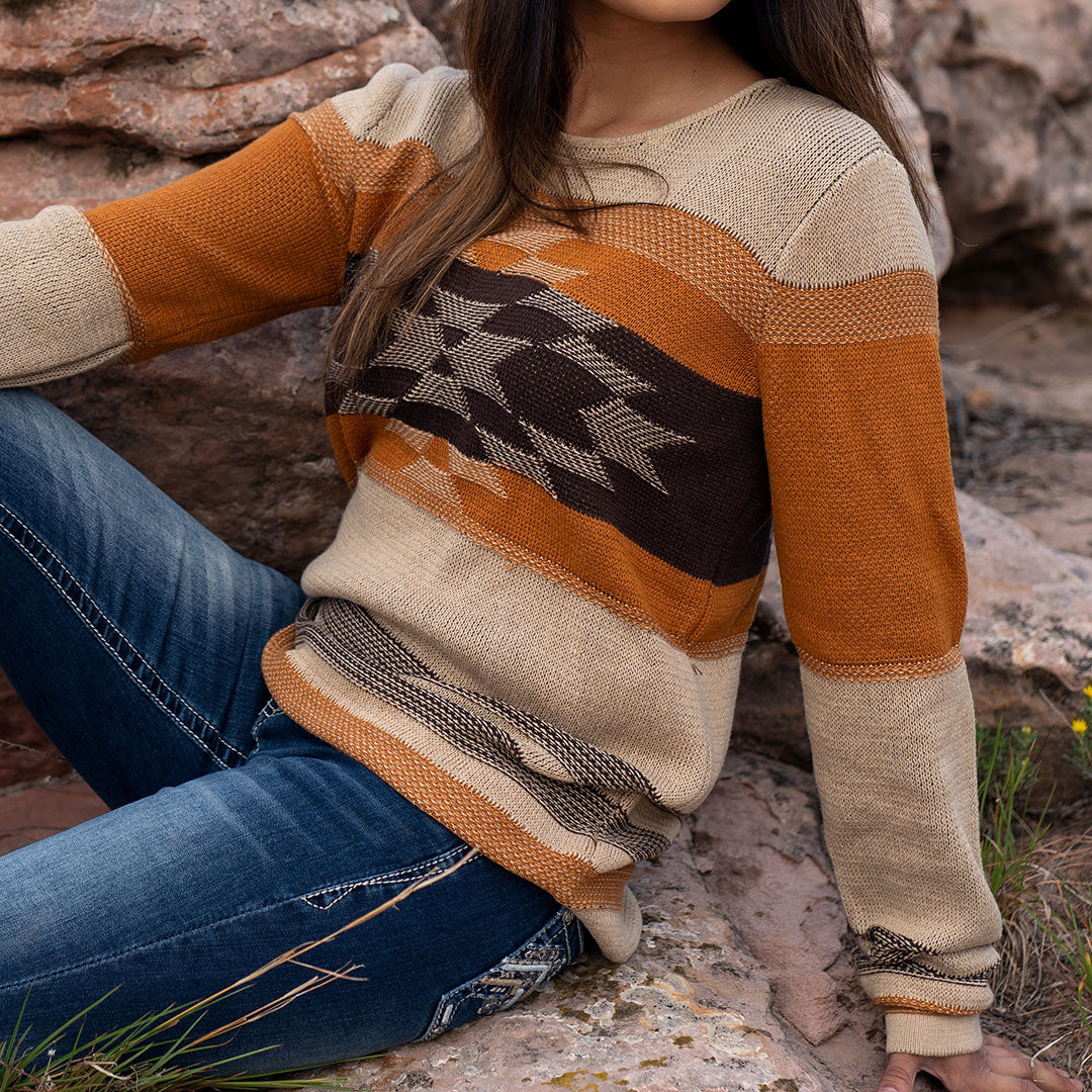 Outback Trading Co Alta Tan Womens Sweater