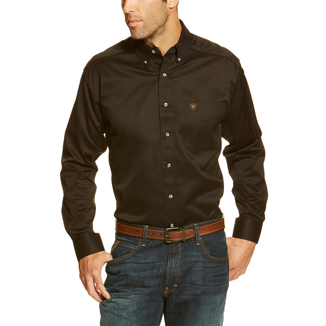 Ariat Men's Solid Twill Classic Fit Shirt