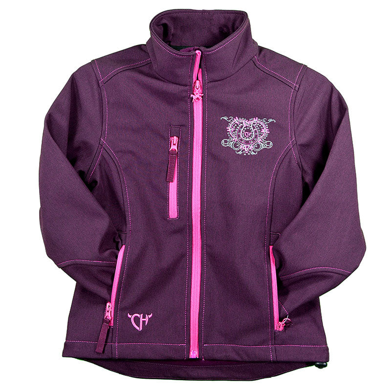 Cowgirl Hardware Wild & Free Soft Shell Heather Pinot Girls Jacket