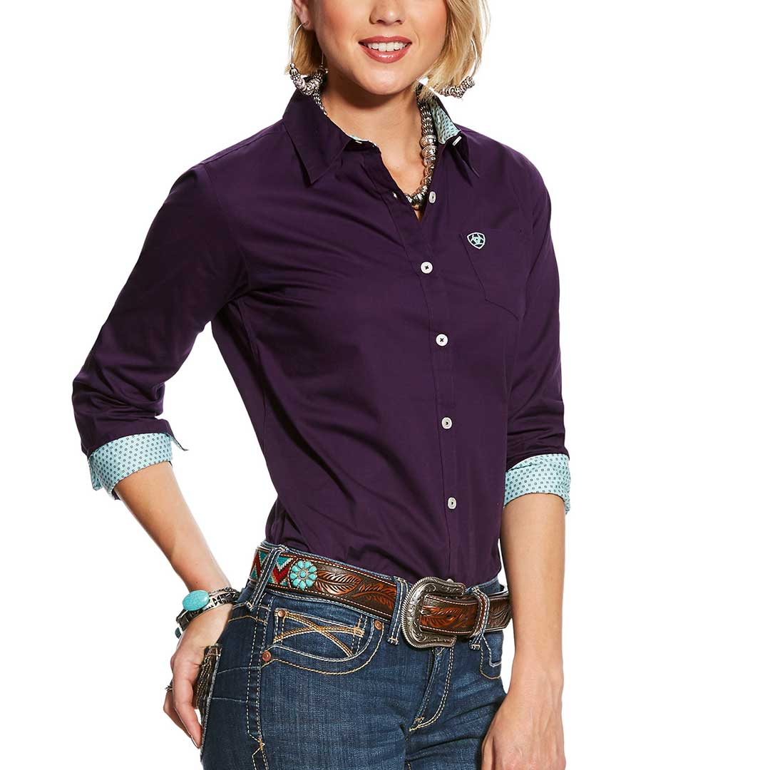 Ariat Kirby Stretch Purple Shirt