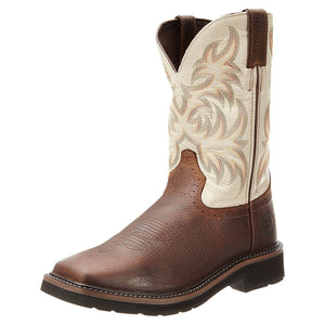 Justin Men's Driller Square Toe Cowboy Work Boots