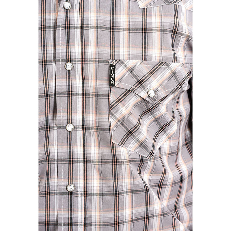 Cinch Grey Plaid Shirt