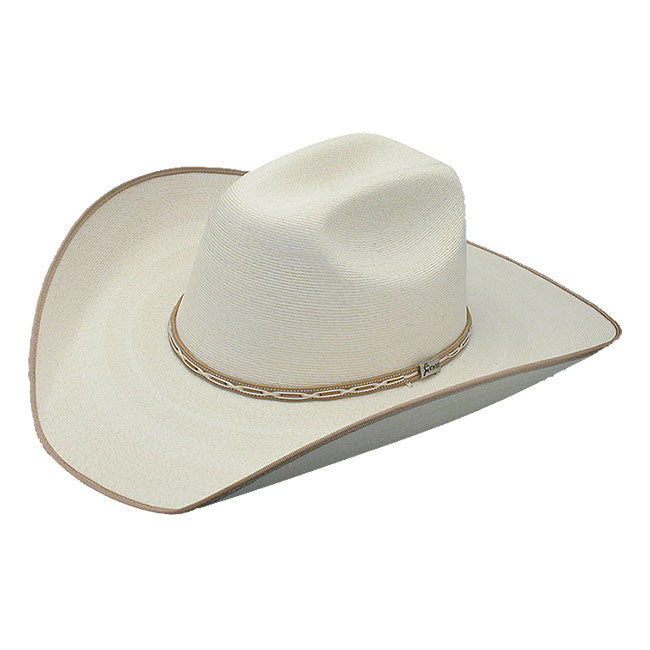 Atwood Hereford Tan Bound Palm Leaf Hat