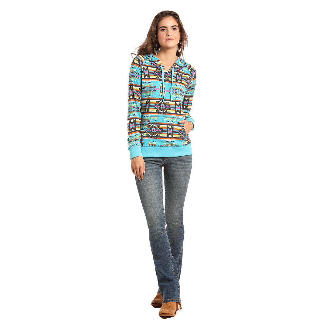 Rock & Roll Cowgirl Bright Aztec Hoodie