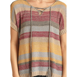 Rock & Roll Cowgirl Striped Knitted Sweater